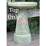 Winter Cardinal Birdbath Topper