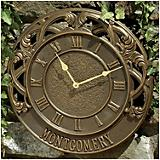 Personalized Chateau Clock French Bronze