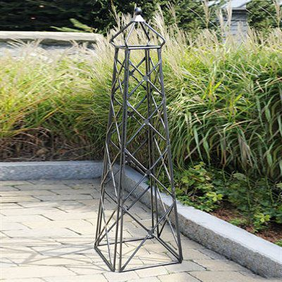 Achla Designs Lattice Metal Obelisk