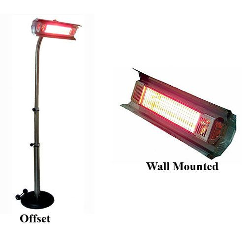 Patio Heater 1500 Watt Pole Mounted-Offset