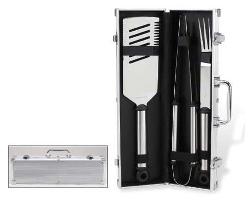 BBQ 3pc Set in Aluminum Case