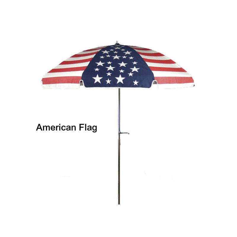 Acrylic Patio Umbrella with Crank American Flag