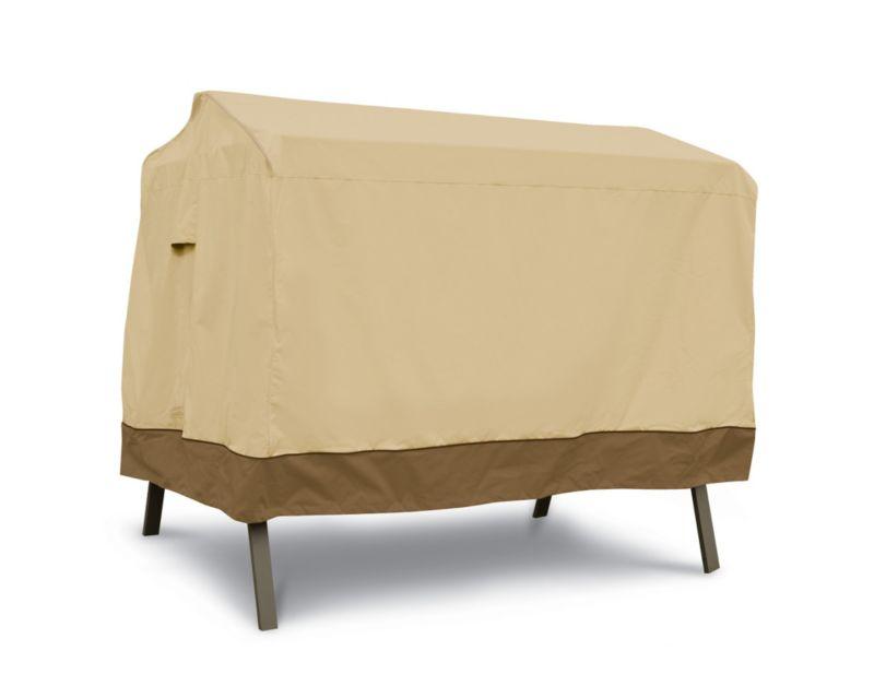 Veranda Canopy Swing Cover Tan Trim