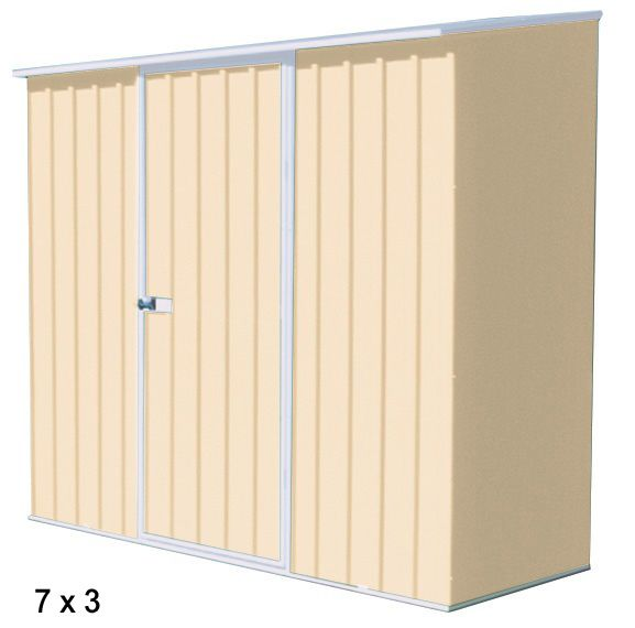Spacesaver Metal Storage Shed Classic Cream 7x3