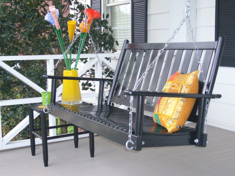 Slat Porch Swing  Red