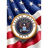 Red Carpet Studios Navy Flag