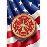 Red Carpet Studios Fire Department Flag