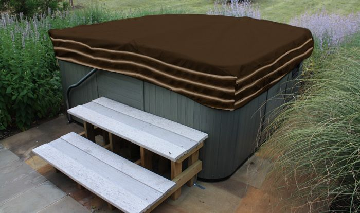 Square Hot Tub Cover 86 Inch Tan
