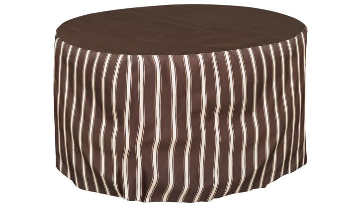 Round Table Cover 30 Drop 36 Inch Tan