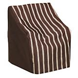 Wicker Rocking Chair Cover Metro Brown Stripe