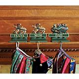 Sleigh & 2 Reindeer Personalized Stocking Holders