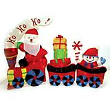 Outdoor Decor Santa Train Tinsel Fabric 100 Light
