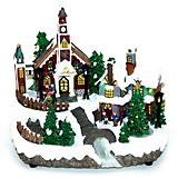 Table Piece Village LED with Rotating Tree