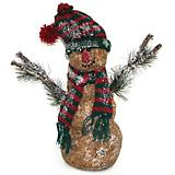 Table Piece Snowman with Pine & Twig 13inch