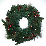 Wreath Prelit with LED Clear Lit Battery Opperated