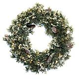 Wreath Glacier Pine Frosted with Ice 35 Clear 160