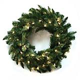Wreath Douglas Fir Blue Clear Lights