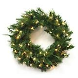 Wreath Cascade 50 Clear Lights 140 Tips 30inch