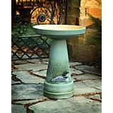Burley Clay Great Northern Loon Birdbath Set