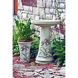 Burley Clay Faith Birdbath Set