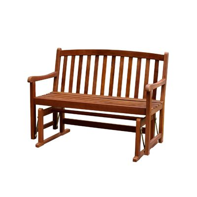 Merry Products Two Person Acacia Glider Bench