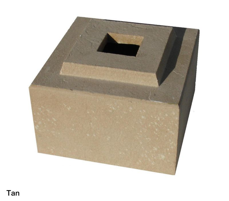 Cubic Planter Pedestal Riser 36in Tan