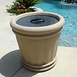 Roman Urn Planter Trash Lid
