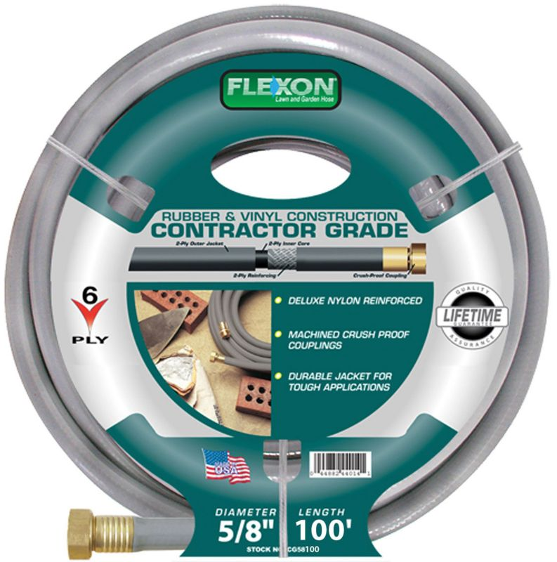 Flexon Contractor Garden Hose 5/8in x 100ft