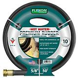 Flexon 5/8in x 50ft Hot Water Rubber Garden Hose