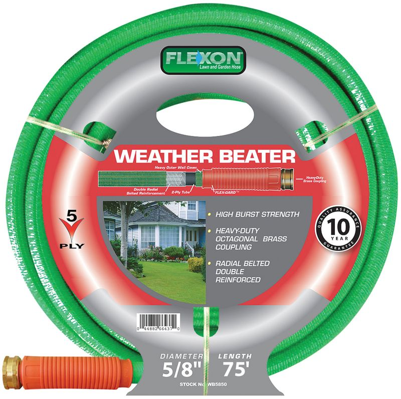 Flexon Weather Beater Garden Hose 5/8in x 75ft