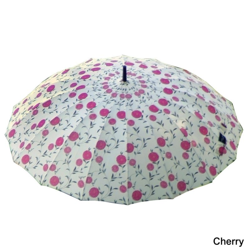 Laura Ashley City Umbrella  Erin Cherry Charcoal