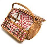 Laura Ashley Cylinder Wicker Picnic Basket