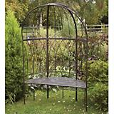 Laura Ashley Metal Canopied Garden Bench