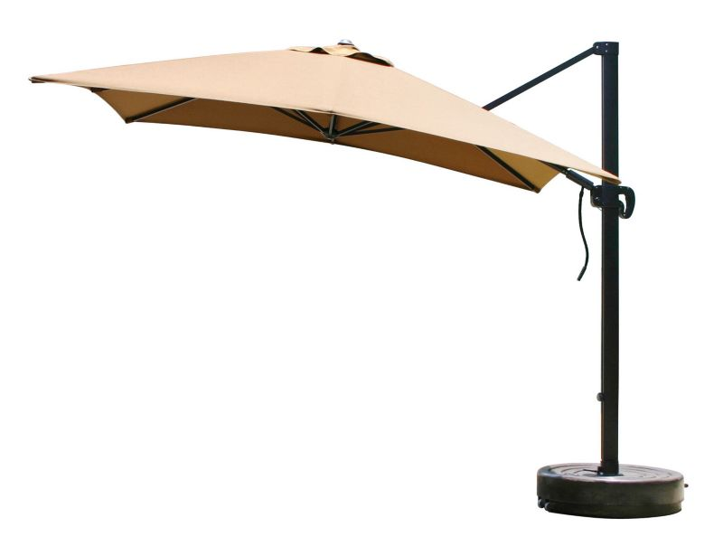 10 Ft Square Crank Lift Cantilever Umbrella Black