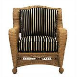 Kates Collection Wicker Chair and Cushion