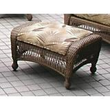 All Weather Wicker Ottoman and Cushion
