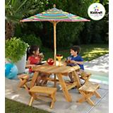 Octagon Table Set with Stools and Umbrella