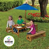 KidKraft Table and Bench Set with Blue Umbrella