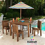 KidKraft Outdoor Espresso Table and Chair Set