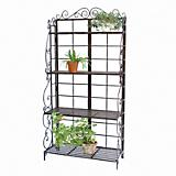 Panacea 75in Bakers Rack Plant Stand Bronze