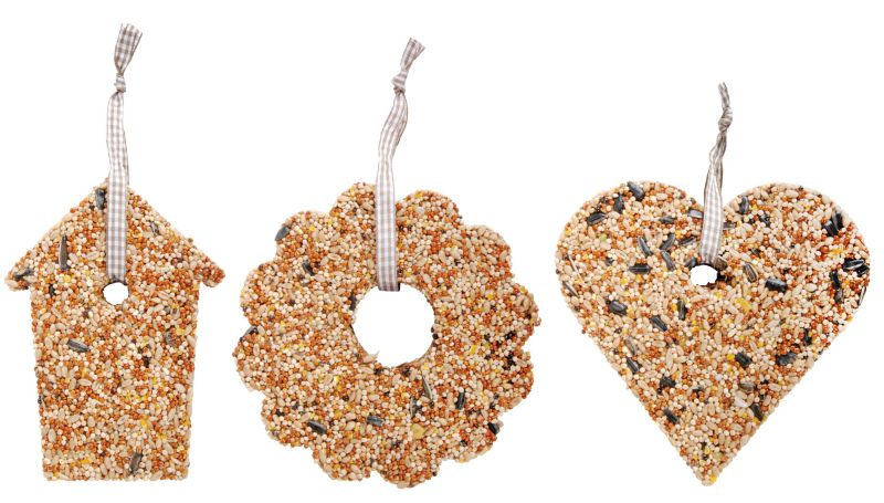 Esschert Design Bird Seed Ornament 3 Pk Small