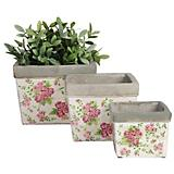 Esschert Design Flowerpot Rose Print Set of 3
