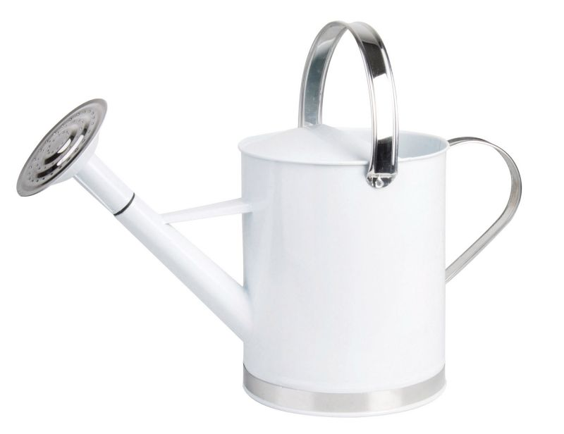 Esschert Design Russian Flower Watering Can White