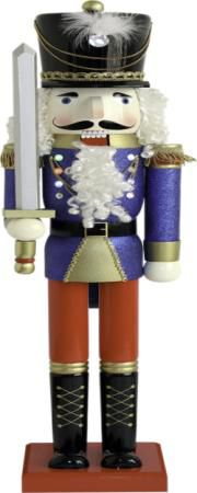 48in Nutcracker with Glitter LED Flashing Lights
