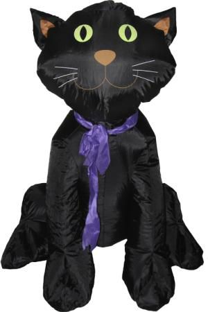 4ft Inflatable Halloween Classic Black Cat