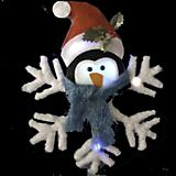 20in Penguin Head Snowflake with LED Lights