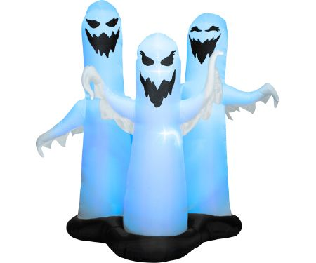 6ft Airblown Color Changing Ghost Trio