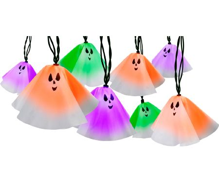 Color Changing Light Ghost Show Set of 10
