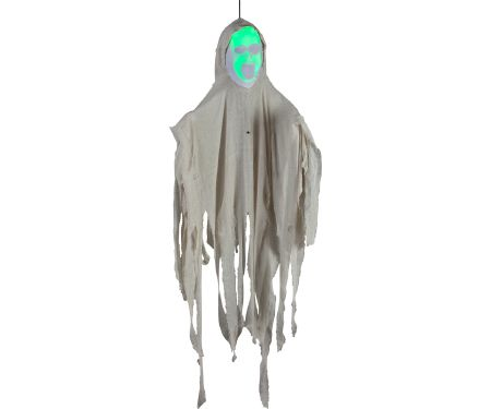 4ft Hanging Face Out White Ghost with Green Face