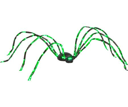 8ft LED Light Spider Green